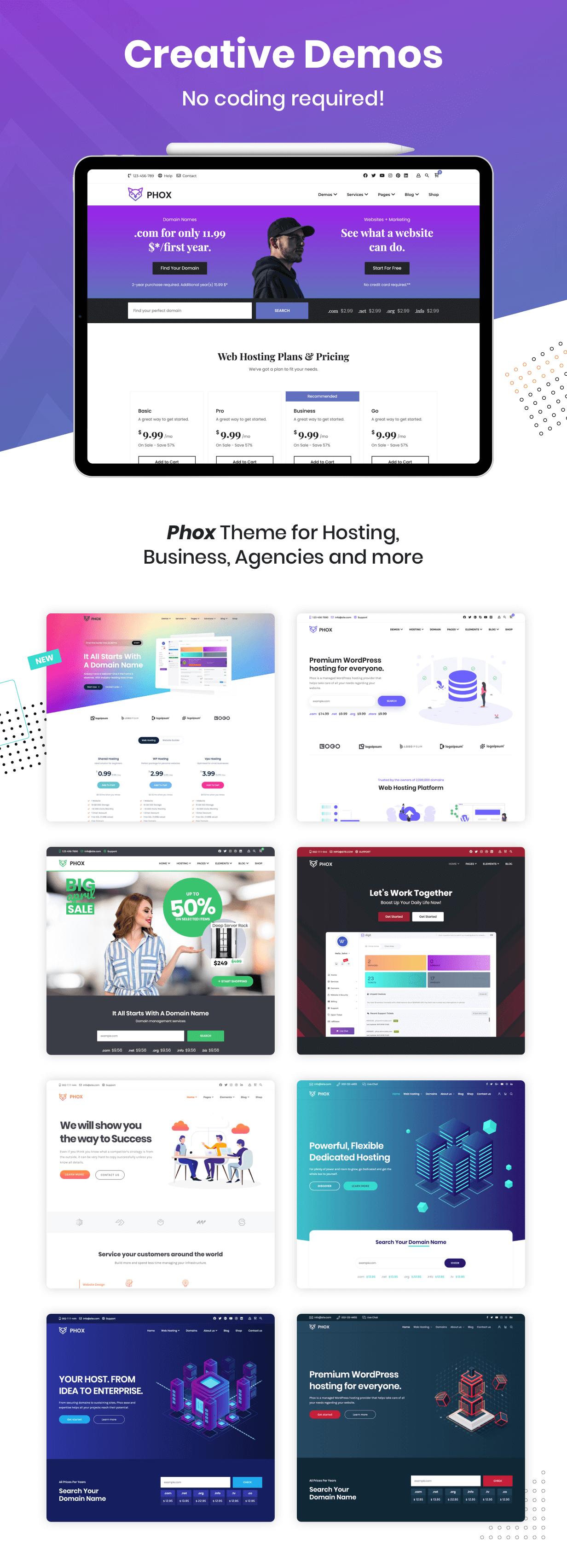 Phox – Hosting WordPress & WHMCS Theme, Gobase64