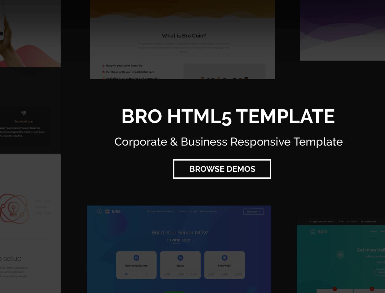 BRO - Corporate & Business Responsive Template - 1